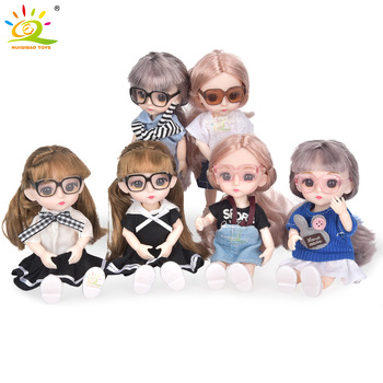 6inch Princess Girl Doll bjd Boneca Dolls normal/joint body Ball Jointed Reborn Glasses Dolls Toys Clothes Shoes Gift For Girls 1