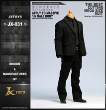 In stock JXTOYS-0311/6 Gentlemens Suit Clothes Set For muscle strong body 12 Male Action Figure wide Shoulder Body