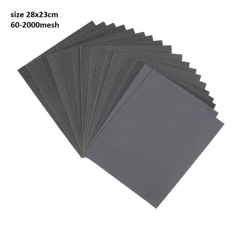 50pcs Abrasive Paper Dry And Wet Dual-use Water Resistant Sandpaper Water Scrub Paper Polishing