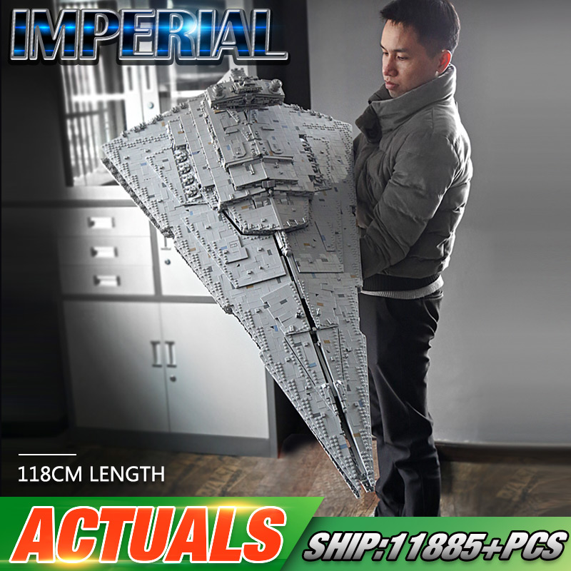 DHL 05027 Star Toys Wars The MOC-23556 Imperial Star Destroyer Set Compatible With Legoing 75252 Kids Toys Gifts Building Blocks