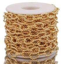 Chaîne de câble de torsion ovale d'acier inoxydable de 1M/10mm chaînes de bricolage épaisses texturées de cercle lourd pour des fournitures de fabrication de bijoux de Punk Rock