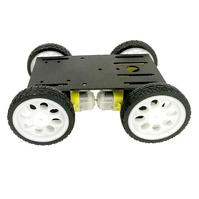 Умный гусеничный робот C101 из алюминиевого сплава, полноприводный танк-ходовой механизм с четырьмя колесами для Arduino, Обучающий набор, мотор
