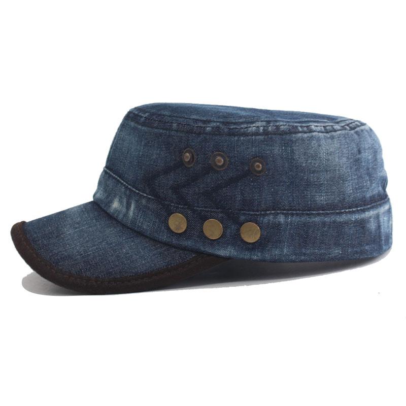 Fashion Jeans Denim Men Military Hats Women Vintage Cotton Dad Gorras Sport Planas Army Hats For Men Snapback Military Cap Hat