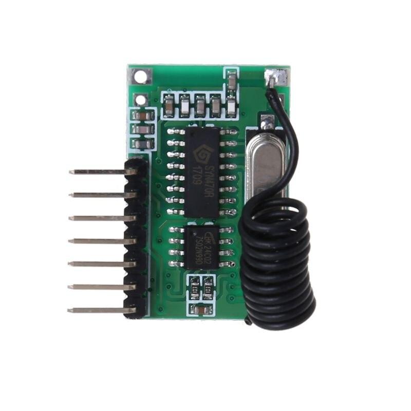 Transmisor de codificación de voltaje ancho inalámbrico AK-06C receptor de salida de 4 canales módulo para Control remoto de 315/433Mhz