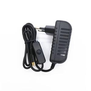 AC 100-240V DC 5 V 3A переключатель питания Кнопка питания адаптер питания Micro USB порт 5 V Вольт для Raspberry Pi 3 Model B + plus