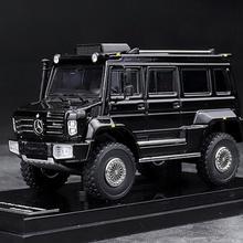 GLM 1/64 масштаб Mercedes Benz Unimog U5000 SUV черный 2012 литая модель автомобиля