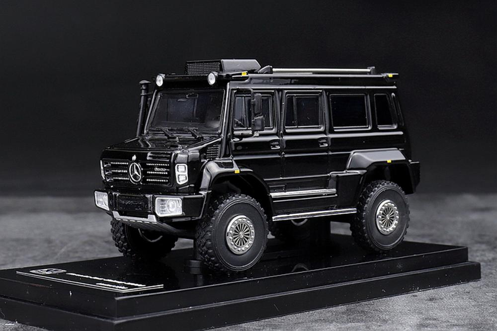GLM 1/64 Scale Mercedes Benz Unimog U5000 SUV Black 2012 Diecast Car Model