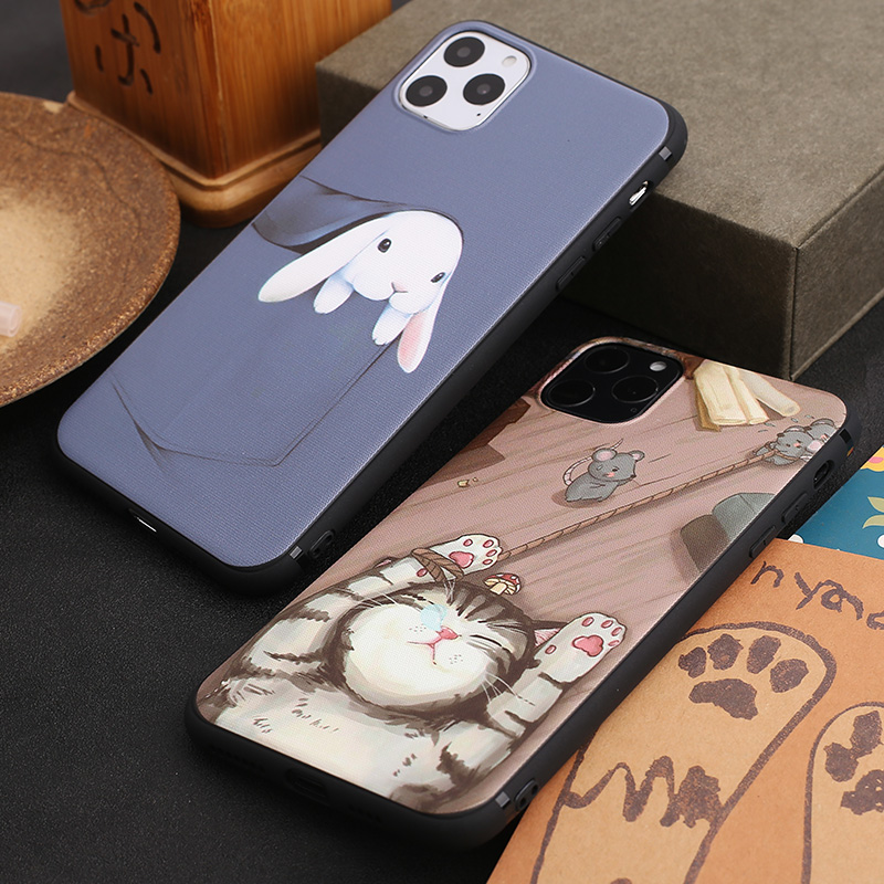 Cute <font><b>Cat</b></font> TPU Phone <font><b>Case</b></font> for <font><b>iPhone</b></font> XR Rabbit Soft Back Cover for <font><b>iPhone</b></font> 11 Pro Max 7 Plus Xs Max <font><b>8</b></font> 6 6s 11 Coque Butterfly Shell image