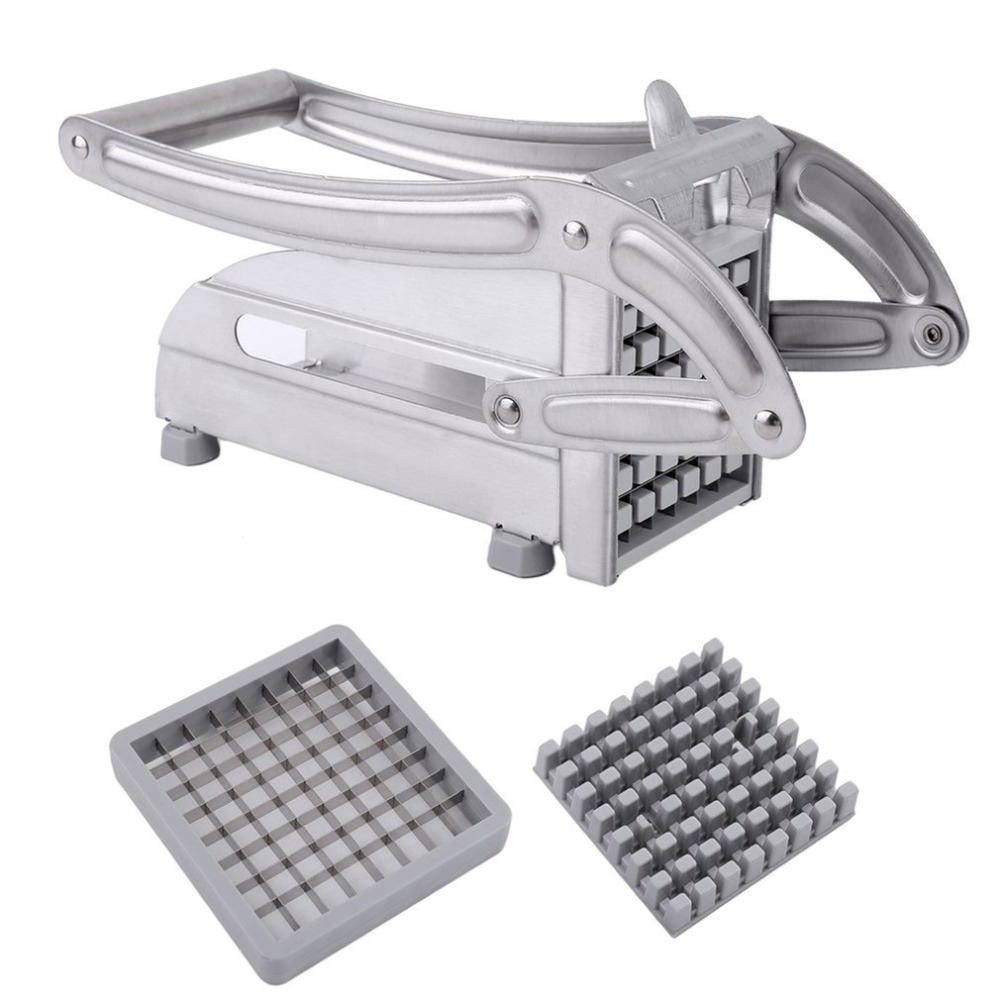 Stainless Steel Manual French Fries Slicer Potato Chipper Chip Cutter Chopper Maker Potato Chips Making Machine
