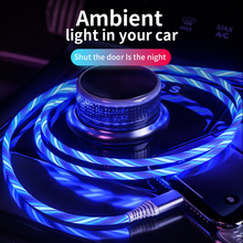 Charging-Cable Light Led-Wire Illuminated Usb-Phone Fast-Charger Type-C Micro-Usb Flowing