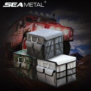 Universal Car Rear Trunk Storage Bag Oxford Cloth 30L Organizer Box Auto Trunks Goods Box Foldable Pocket Bag for Travel Storage