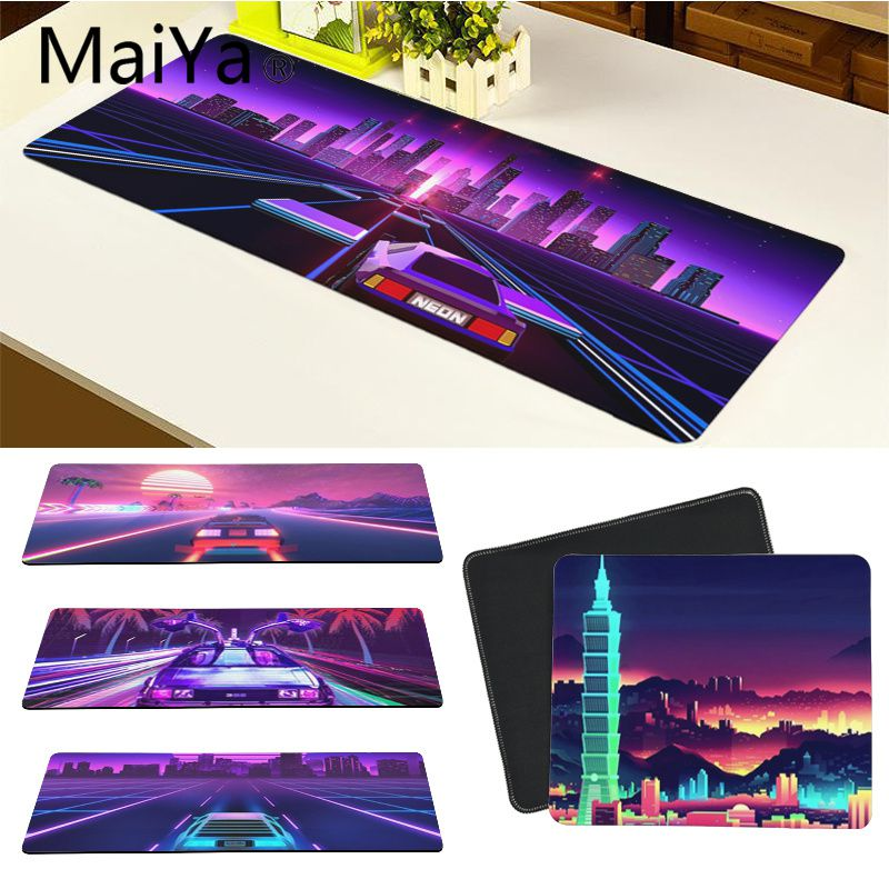 Maiya Top Quality Vaporwave sports car Rubber Mouse Durable Desktop Mousepad Free Shipping Large Mouse Pad Keyboards Mat image