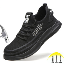 Men's And Women's Work Shoes Anti-smashing Stab-resistant Safety Shoes Men's Lightweight Breathable Shoes Steel Toe Cap Shoes