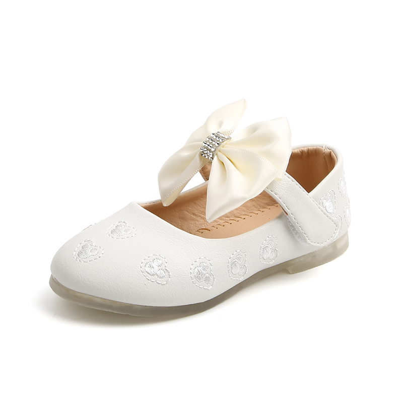 MIKA HOM Girls Sandals Mary Jane Shoes with Bowknot Flats