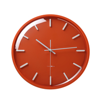 Glass Wooden Wall Clocks Living Room Bedroom kitchen Orange Lovely Nordic Mute Wall Clock Zegary Na Sciane Home Decor MM60WC