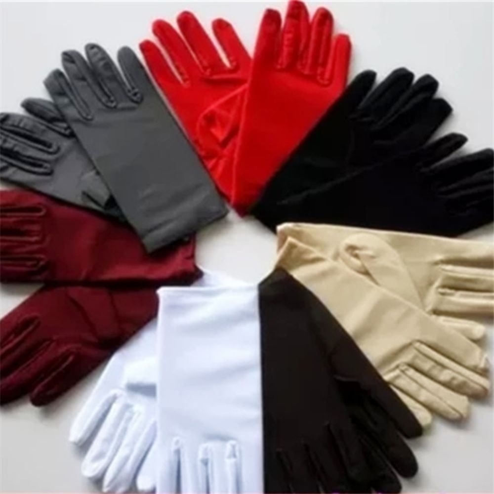 2019 New   Hot  Fashion Summer Ladies Thin Stretch Driving Sunscreen Spandex Gloves Jewelry Etiquette Performance Gloves Men