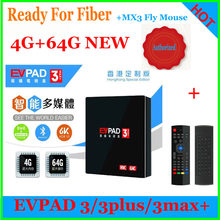 [Genuine]iptv For Fiber Evpad 3/3PLUS/3 MAX+ tv box lifetime live tv movie drama PORN VOD/PLAYBACK support 4.1 BT 2.4/5Ghz WIFI(China)