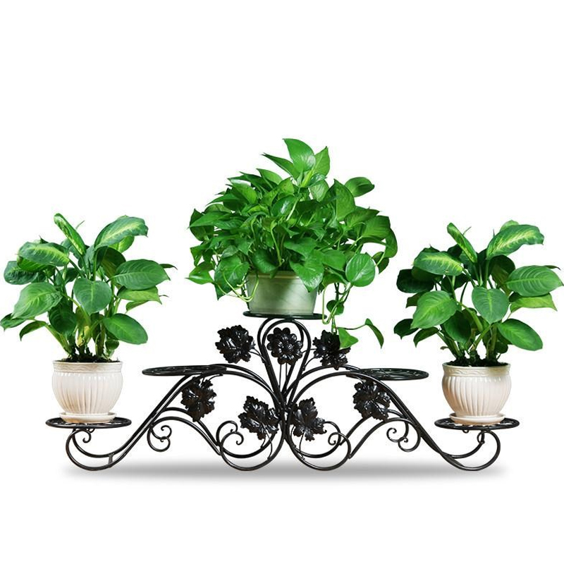 Balcony Indoor Nordic Flower Shelf Wrought Iron Balcony Multi-storey Floor-mounted Simple Living Room Floor Pot Rack