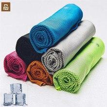 Быстросохнущее спортивное полотенце Youpin Giavnvay, 30x102 см, впитывающее пот, прохладная дорожная ткань для бега, для кемпинга, плавания, спортзала, мочалка 6 кол