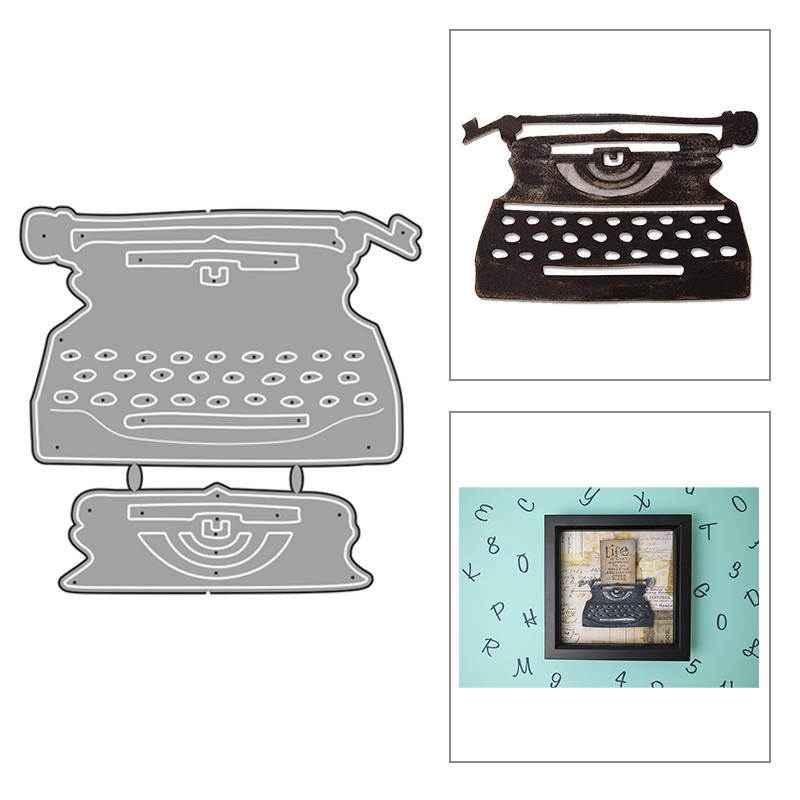2020 New Hot Typewriter Metal Cutting Dies Landline Stencils Letter And Scrapbooking Paper For Foil 3D Die Cut Crafts No Stamp