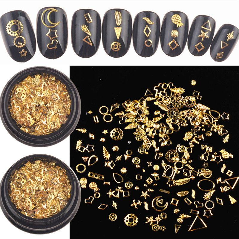 120Pcs Mixed Steampunk Golden Metal Moon Star Cogs Gear Conch Pineapple Charm UV Frame Resin Jewelry Fillings Art Crafts