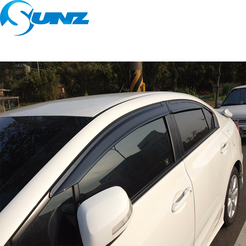 Image 5 - Side Window Deflector For HONDA CIVIC 2006 2007 2008 2009 2010 2011 sedan Window Visor Vent Shades Sun Rain Deflector Guard SUNZ-in Awnings & Shelters from Automobiles & Motorcycles