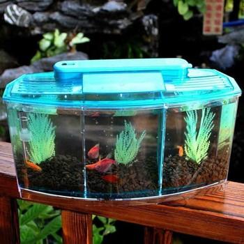 Aquarium Fish Tanks Mini Aquarium Fish Tank Aquarium With LED Lamp Light Fish Tank Desktop Fish Mini House Home Pet products