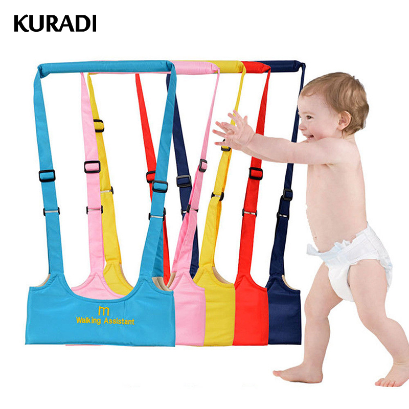 Yellow Baby Walking Harness Adjustable Detachable Baby Walker Assistant Protective Belt for Kids Infant Toddlers