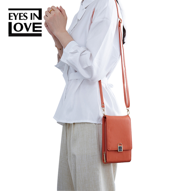 Mini Women Shoulder Bags Female Phone Wallet Women Flap Messenger Bag Brand Designer Small Crossbody Bag PU Leather Ladies Purse