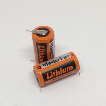 MasterFire 2pcs/lot Sanyo PLC Industrial Lithium Battery CR17335 3V CR17335(3VOLTS) Batteries With soldering feet ( CR17335) wholesale 100pcs lot new original saft ls 14250 ls14250 1 2 aa 1 2aa 3 6v 1250mah lithium battery plc batteries with pins