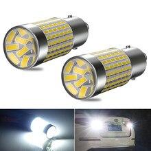 2X Super Bright S25 1156 BA15S 7506 LED 1157 BAY15D 3157 T25 Reversing lights For Peugeot 308 408 RCZ Citroen C4L Fiat Viaggio