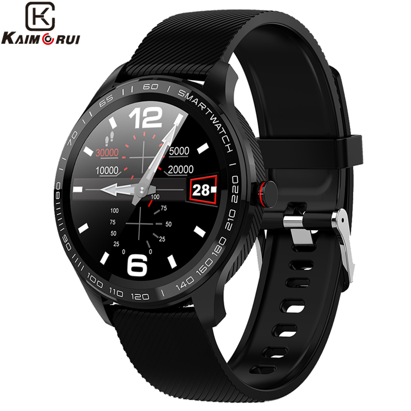 Smart Watch L9 ECG Heart Rate Pedometer Calls Reminder Full Touch <font><b>Smartwatch</b></font> IP68 Waterproof Watch Men for Android IOS PK <font><b>L7</b></font> image