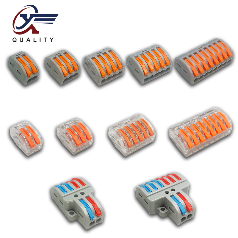 Wire Connector PCT-212 213 214 215 218 SPL-2 3 Universal Terminal 0.08-2.5mm Push-in electrical terminals for cable Connection