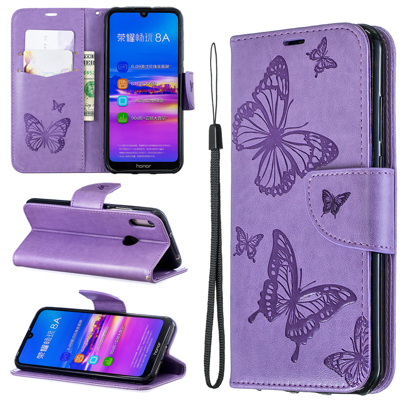 2019 Butterfly Flip <font><b>Case</b></font> For Huawei <font><b>Honor</b></font> 7A Pro AUM-L29 Cover <font><b>7S</b></font> <font><b>DUA</b></font>-<font><b>L22</b></font> 7C AUM-L41 Wallet Book 8S Play 8A <font><b>Case</b></font> 8C Leather Bag image