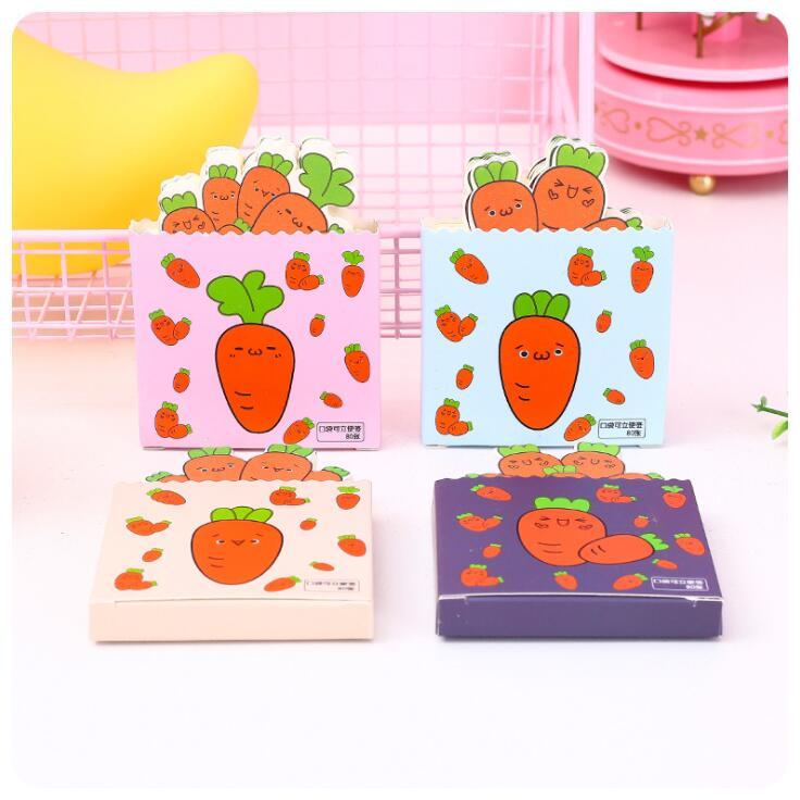 2020 Sharkbang Kawaii 80 Sheets Cute Carrot Daily Memo Pads Paper To Do List Note Kawaii Notepad Papelaria School Stationery