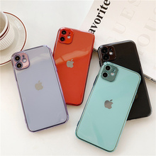 Luxury Plating lens Protection phone case for iphon