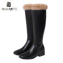 Moda pele de coelho inverno manter quente botas longas novas estilo preto branco à prova dwaterproof água alta qualidade na altura do joelho botas cavaleiro
