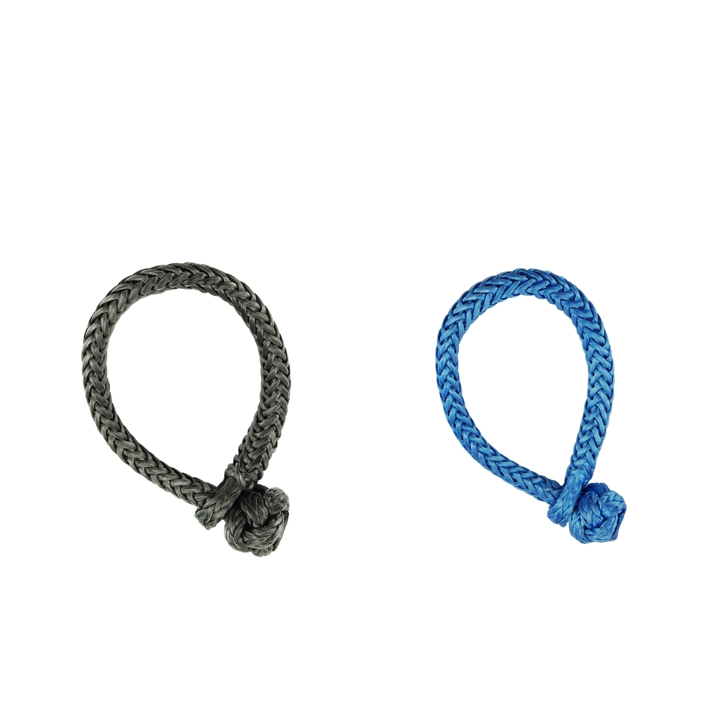 Grey 8mmx100mm ATV Winch Shackle,Soft Shackles,Synthetic Winch Rope Cable