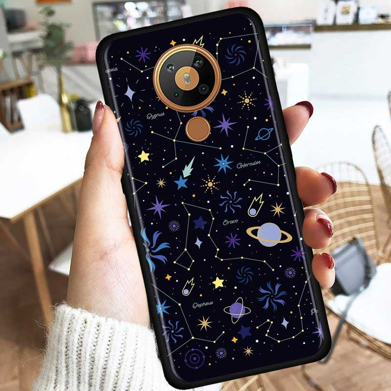 Universe Stars Moon Silicone Phone Case For Nokia 2.2 2.3 3.2 4.2 7.2 1.3 5.3 8.3 2.4 3.4 C3 C2 1.4 5.4