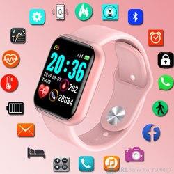 Relógio de pulso digital infantil, relógio de pulso digital multiesportivo para meninos e meninas, relógios com led, tela grande para android e ios adolescente