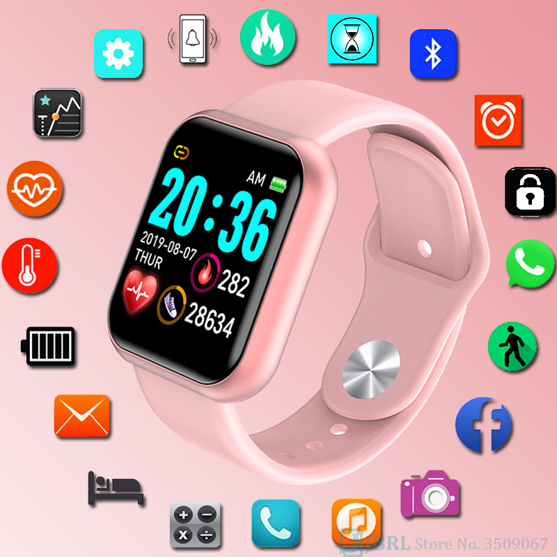 Children Digital Wrist Watch Girls Boys Led Watches Kids WristWatch Android IOS Large Screen Multi-sport Mode Digital Watch Teen