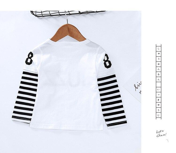 New Spring Boys Girls Cartoon Cotton T Shirts Children Tees Boy Girl Long Sleeve T Shirts Kids Tops Brand Baby Clothes 12M-8Y 32