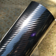 Película de revestimiento tipo fibra de carbono para coches, vinilo adhesivo ultra brillante sin burbujas, adecuado también para motocicletas y ordenador portátil