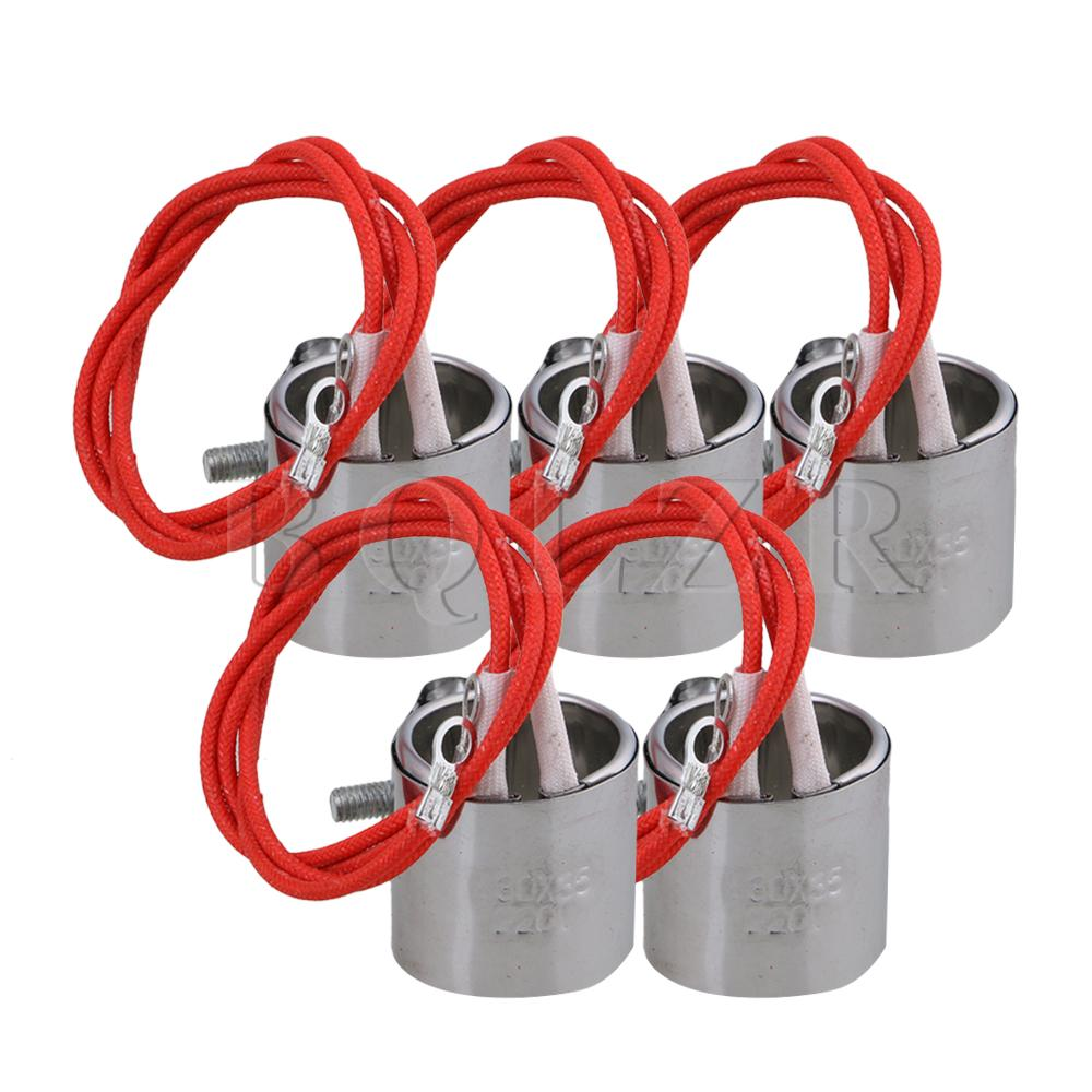 BQLZR 5pcs Stainless Steel 220V 120W Injected Mould Heating Element Band Heater