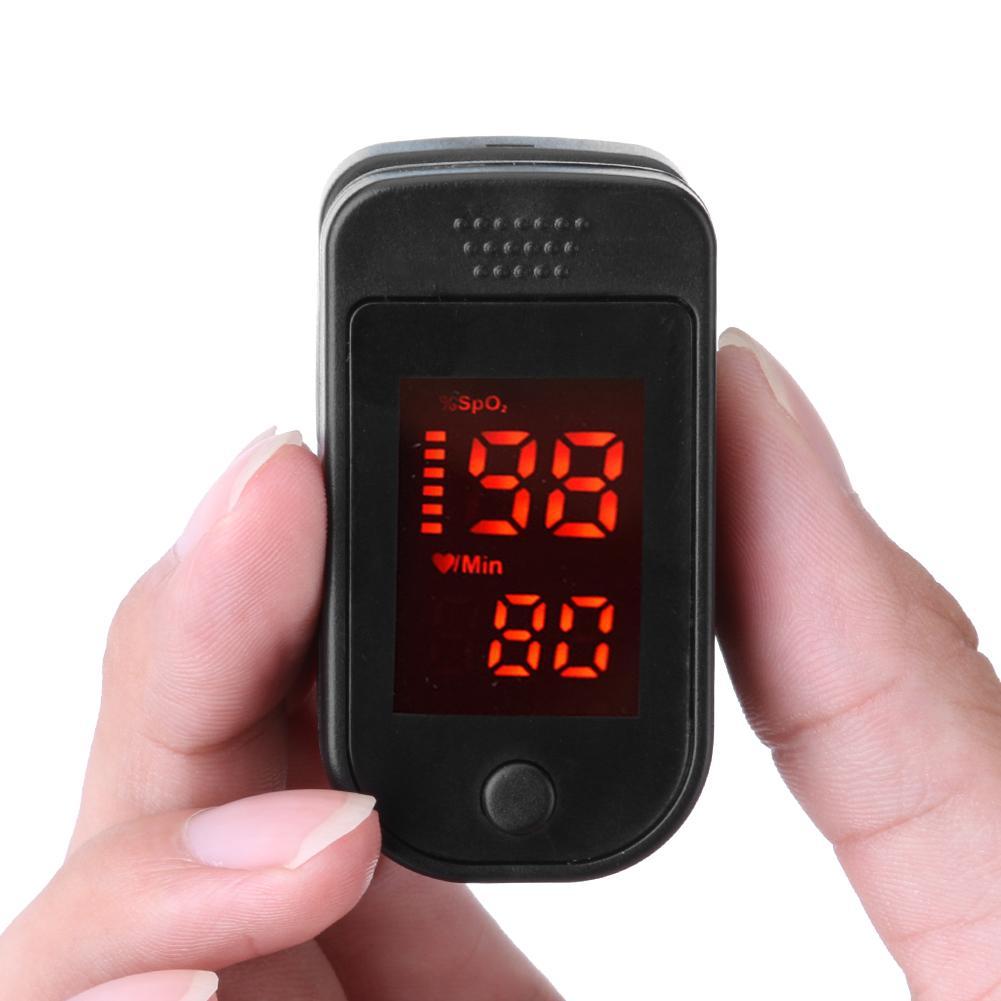 In Stock! Digital Finger Pulse Oxygen Saturation Monitor Blood Oximeter Finger Oximeter Heart Rate Detector Health Monitors