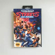 Streets of Rage 2   USA Cover With Retail Box 16 Bit MD Game Card for Sega Megadrive Genesis Video Game Console