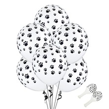 Besegad 100pcs 12 inch Cute Paw Pattern Latex Balloons Kit Dogs Animal Themed Holiday