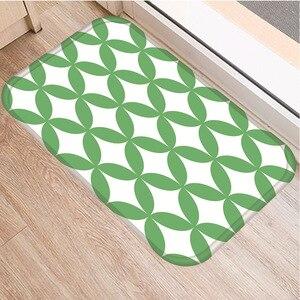 Image 3 - Celosía geométrica alfombra decorativa antideslizante para dormitorio, suelo de cocina, sala de estar, baño, 40x60cm