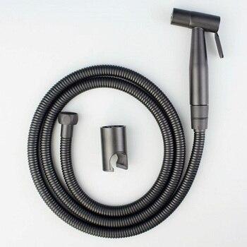 KKTNSG negro pulverizador para bidé shattaf conjunto anal lavado grifo de bidé, inodoro asiento de ducha aseo jet spray de 304 de acero inoxidable