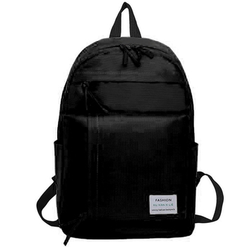 Solid Color Backpack Female Casual Wild Student Bag Sports Outdoor Backpack Korean Version of the College Wind Backpack